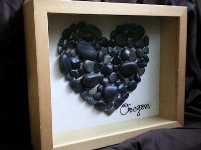 Bilde av hjerte laget av steiner