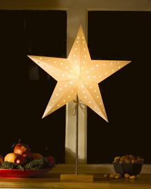 Utestående julestjerne vindu   Lindas Lille Verden GG-63