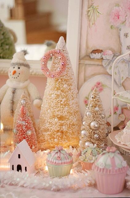 Jul pastell snømann