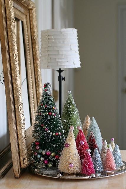 Juletrær flerfarget