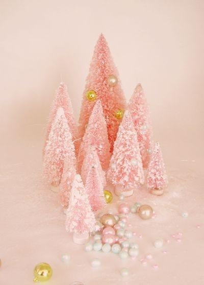 Juletrær rosa