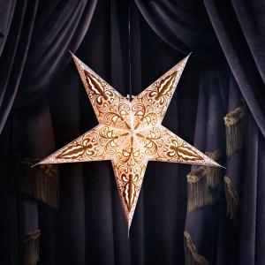 håndlagde papirstjerner snowwhite