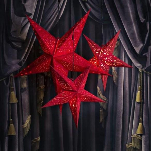 papirstjerner røde woweffekt