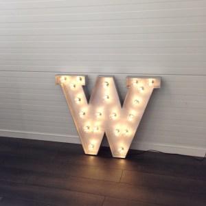 bokstav med lys ferdig med lys 1