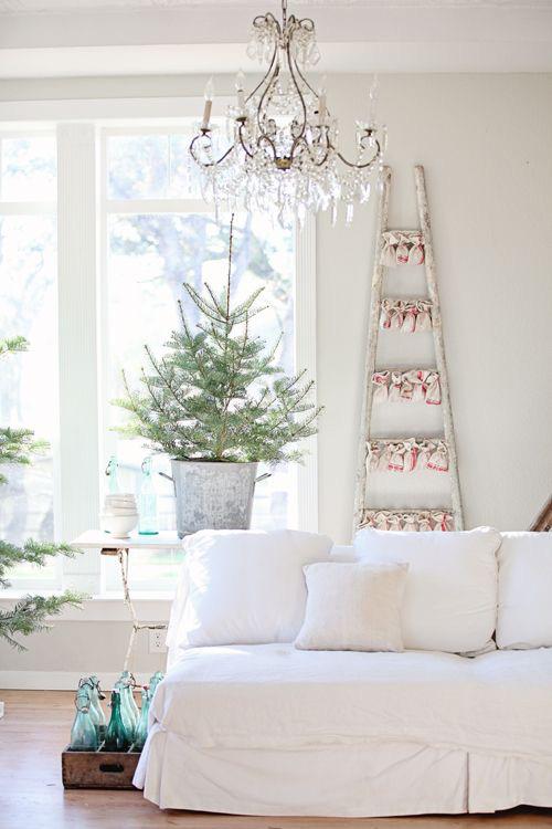 julepyntet stue