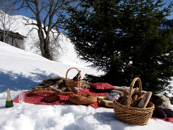 picnic i snøen