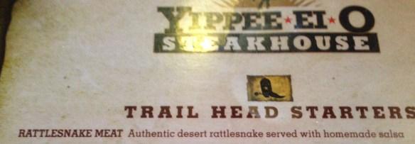 Rattlesnake på menyen