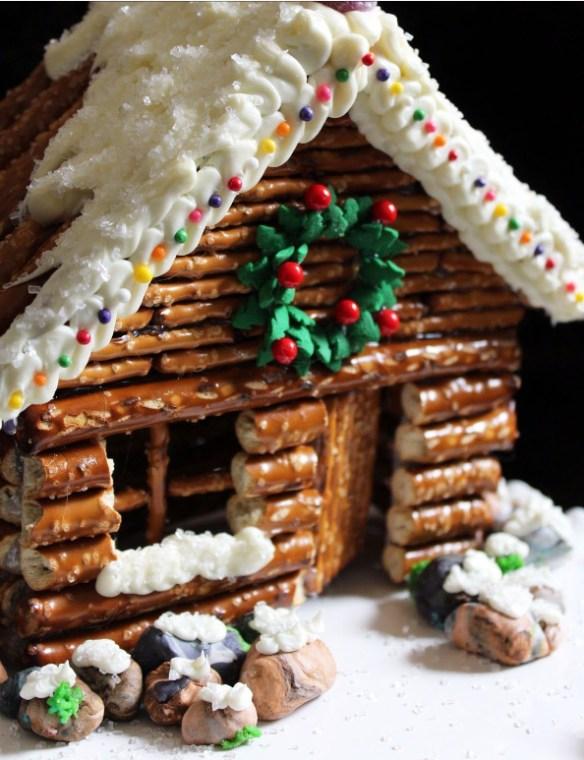 julehus pyntet saltstenger