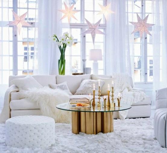 papirstjerner i vindu