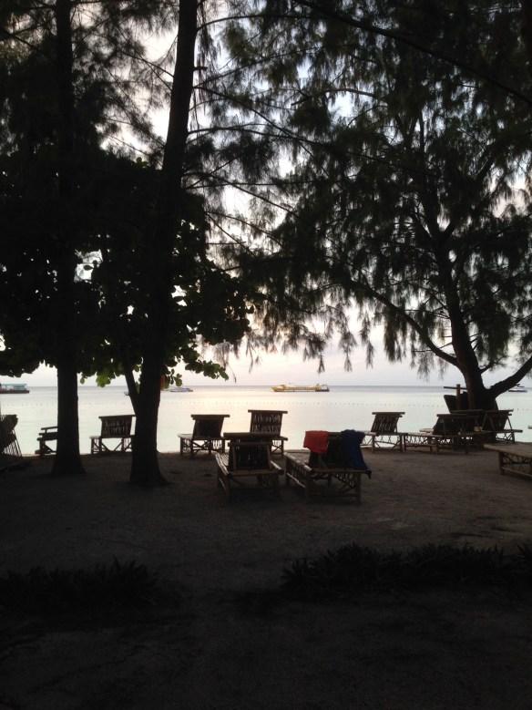 Utsikt fra bambus hytte Koh Lipe Green Resort