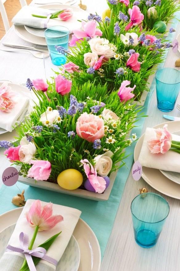 Borddekking blomster