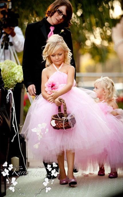 brudepike rosa tutu