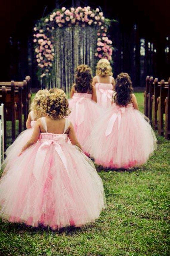 brudepiker rosa kjoler