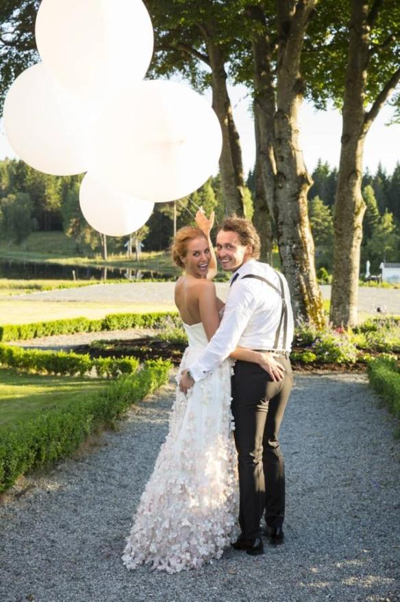 store ballonger bryllup egor filipenko med brud