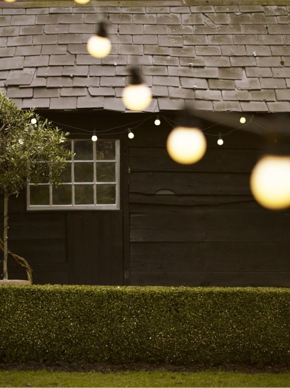 utendørs lyslenke i hagen