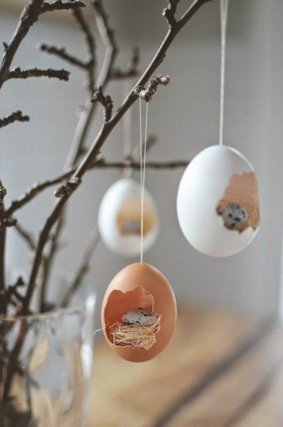 påskepynt eggeskall