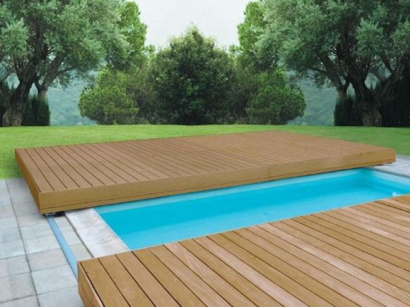 Basseng med terrasse lokk skyvbart