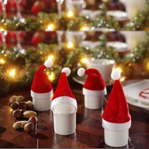 Julenisseluer til egg på frokostbordet