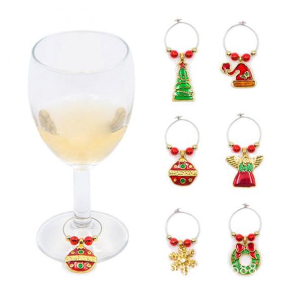charms vinglass gullfarget på glass