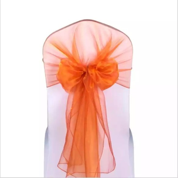 Dekorsløyfe organza orange