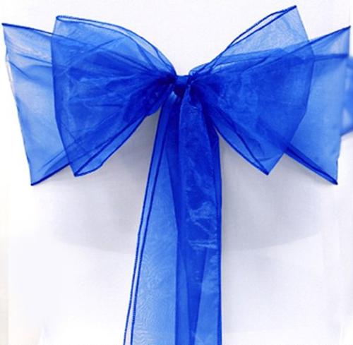 Organza sløyfe konge blå