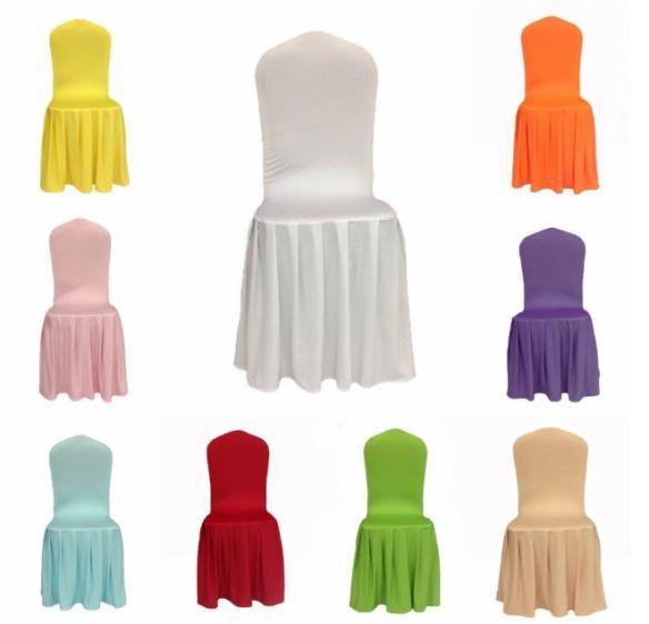 Stoltrekk med plissetskjørt ulike farger