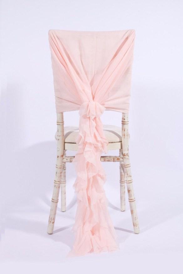 Stor dekorsløyfe til stol lys rosa