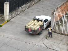 Vendor Selling Gas Tanks in Cuenca