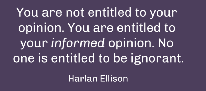 How to form an opinion is not something we usually teach, but it should be.