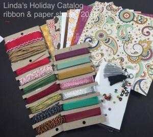 2016 Holiday Catalog Paper and ribbon Shares Linda