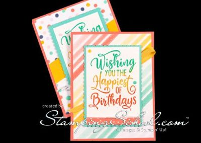 Tri-Color Embossing Birthday Card