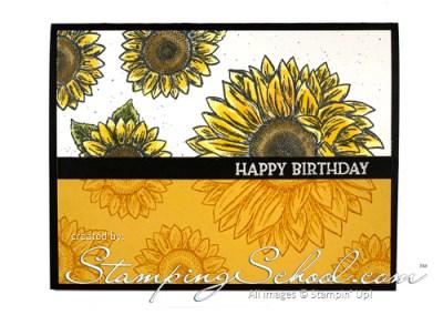 Celebrate Sunflowers:  Split Negative With Color Technique