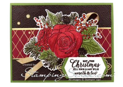 *Stamparatus:Christmas Rose 4 step stamping