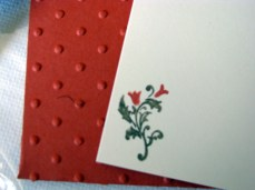 CLOSE UP OF LITTLE ENVELOPE AND CARD (all images copyright Stampin' Up!)