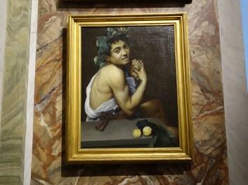 Caravaggio: Self-Portrait as Bacchus (Sick Bacchus) (1593). Moonlight effect.