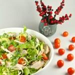 Žāvētas vistas salāti ar sinepju mērci