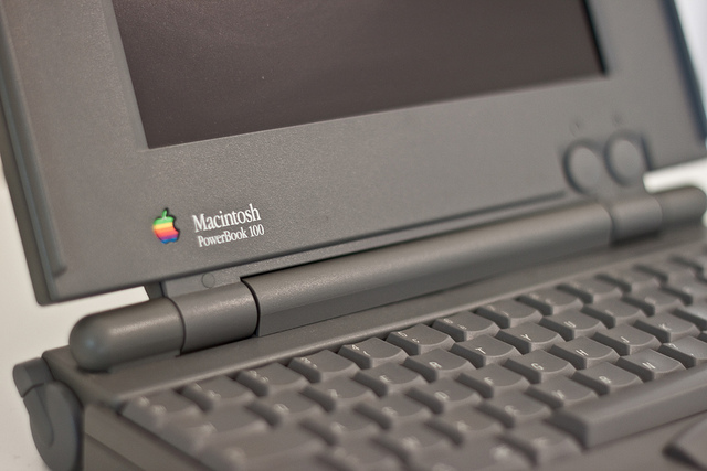 PowerBook 100, my first laptop