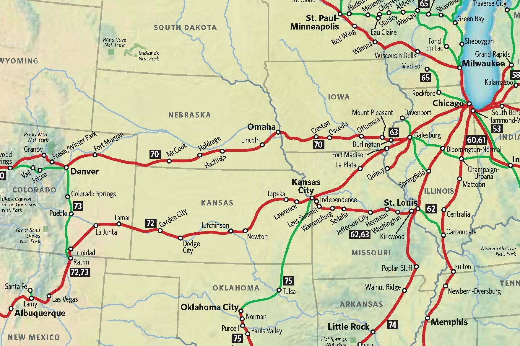 Routes Amtrak Map Western