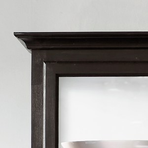 Close up image of Lindebjerg Design Classic V1 Black Vitrine Cabinet Top