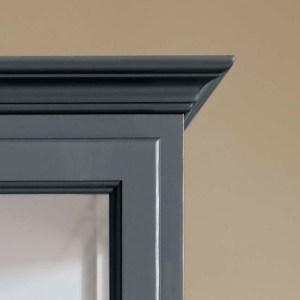 Close up image of Lindebjerg Design Classic V2 Vitrine Cabinet Top