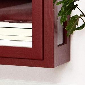 Nærbillede af Lindebjerg Design Color N4 Vitrineskabs bund