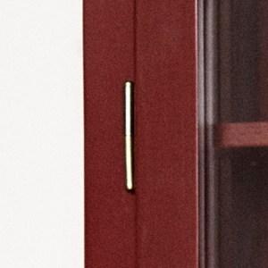 Nahaufnahme Bild von Lindebjerg Design Farbe N4 Vitrine Schranktür Scharnier