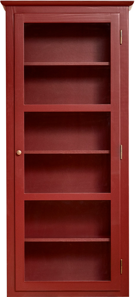 Product image of Lindebjerg Design Color N4 Red Vitrine Cabinet