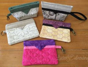 In-the-hoop snap bags from Lindee G Embroidery