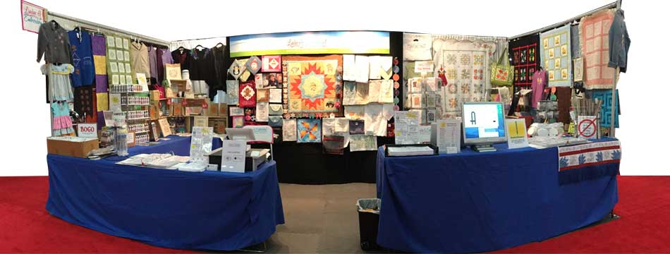 Lindee G Embroidery Booth at Quilt Festival, Houston 2016