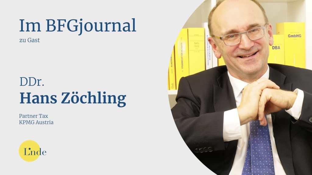 Hans Zöchling ist Vorsitzender der Arbeitsgruppe Körperschaftsteuer des Fachsenates für Steuerrecht der KSW in die Begutachtung neuer Gesetze und Richtlinien der österreichischen Finanzverwaltung eingebunden. (Bild: © Linde Verlag)