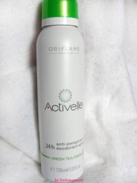 Deodorant antiperspirant spray Activelle green tea Oriflame ceai verde