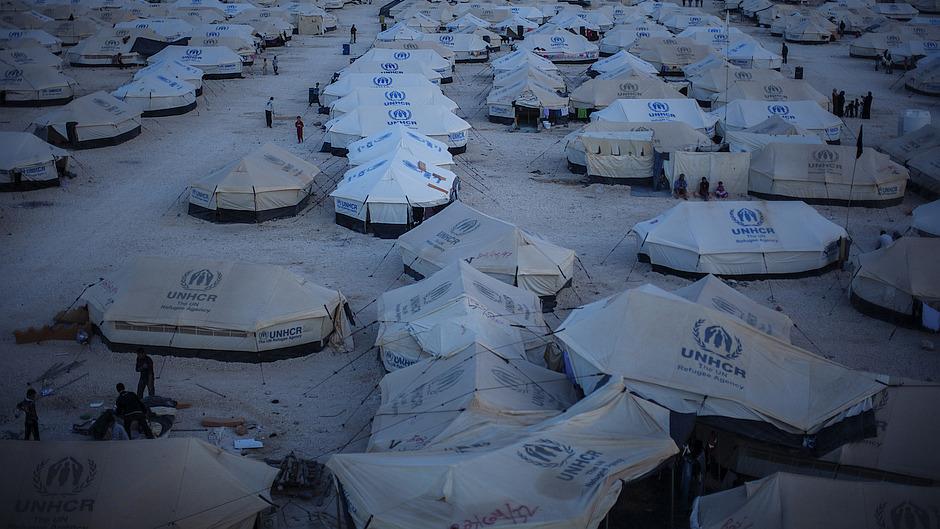 Zelte Flüchtlingscamp UNHCR