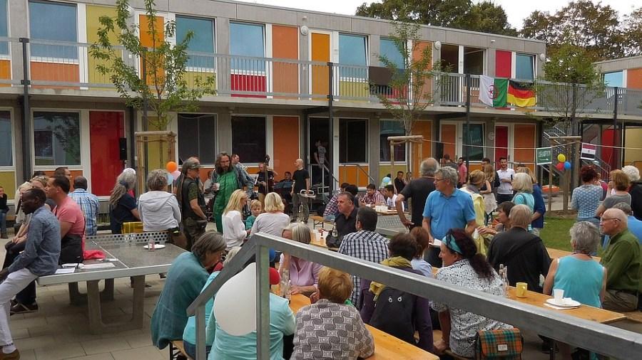Nachbarschaftsfest Unterkunft Steigertahlstraße