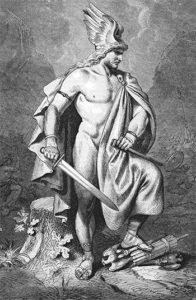 Arminius (Hermann the Cherusker), ruler of the Cherusker, a tribal unit in ancient Germany, born 18 or 16 before Christ, died 21